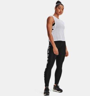Women's HeatGear Armour No-Slip Waistband Branded Full-Length Leggings