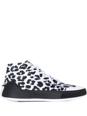 adidas by Stella McCartney Treino leopard print high-top sneakers - White