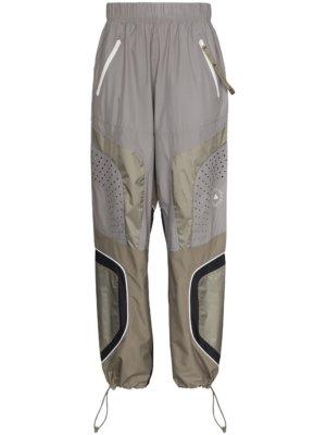adidas by Stella McCartney logo-print panelled track pants - Grey