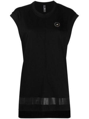 adidas by Stella McCartney logo-print short-sleeve T-shirt - Black