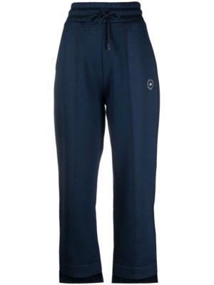 adidas by Stella McCartney logo-print tapered track pants - Blue