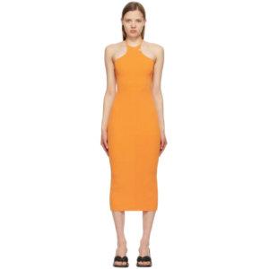1017 ALYX 9SM Orange Ribbed Knit Tank Dress