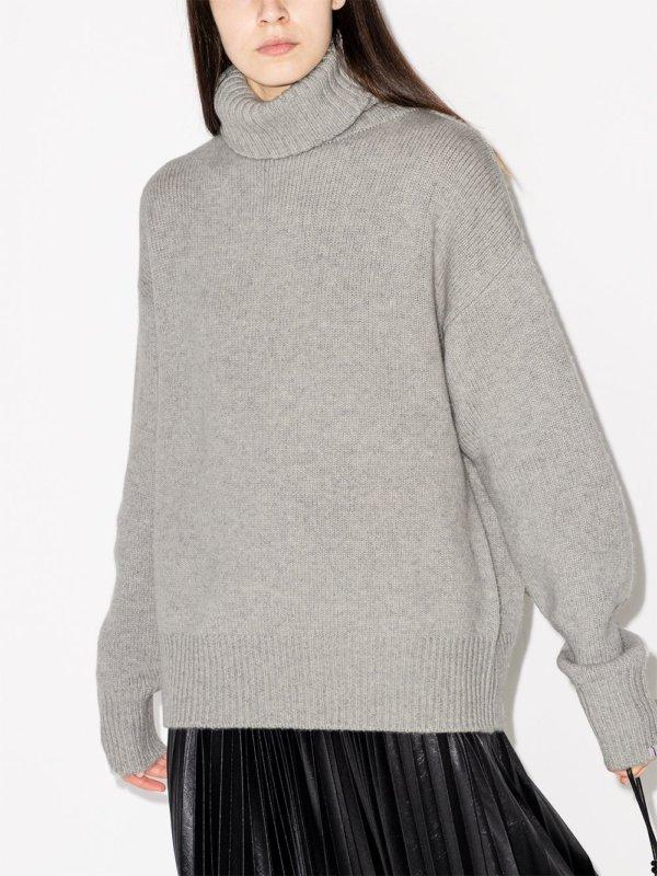 cashmere roll neck knit jumpe