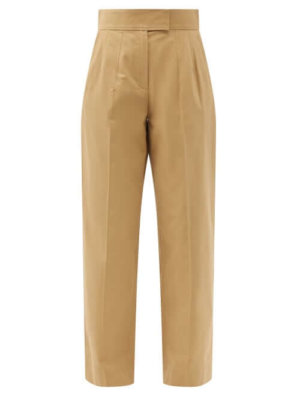 A.P.C. - Ann High-rise Cotton-canvas Trousers - Womens - Camel