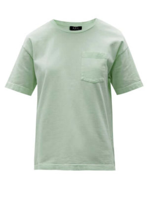 A.P.C. - Hope Logo-embroidered Cotton-jersey T-shirt - Womens - Green