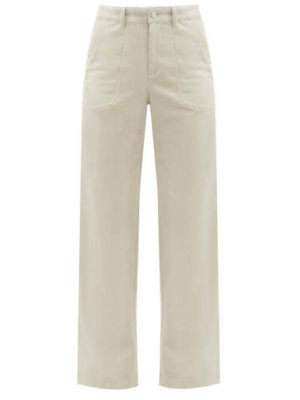A.P.C. - Seaside Cotton-blend Corduroy Trousers - Womens - Ivory