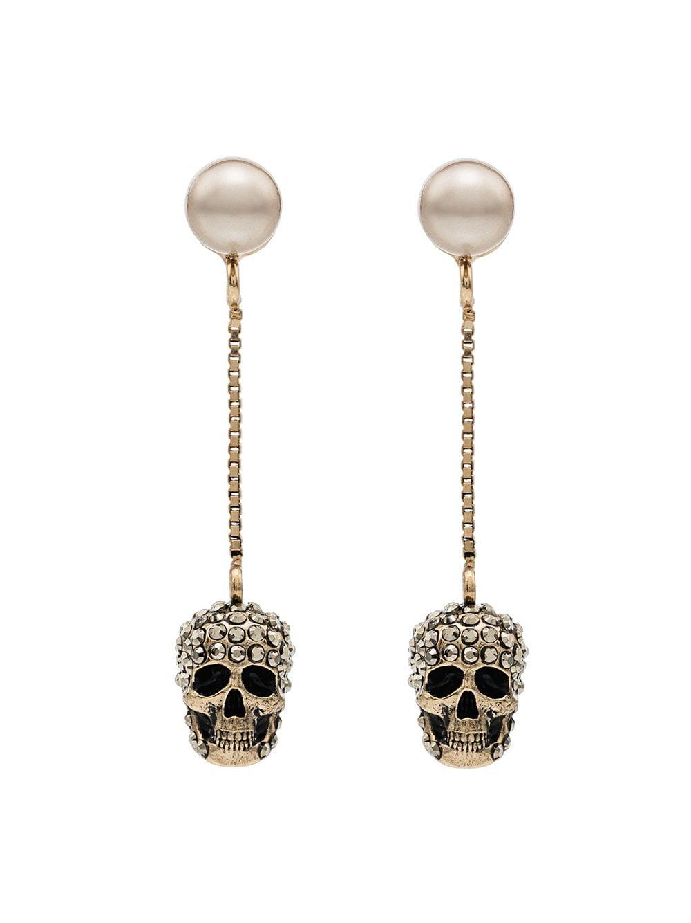 dangling skull earrings
