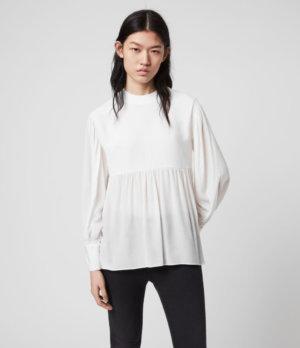 AllSaints Womens Fayre Top, White, Size: XS
