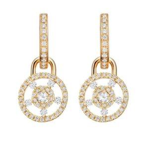 Apollo 18ct Yellow Gold, 0.08ct White Topaz and 0.50ct Diamond Small Detachable Earrings
