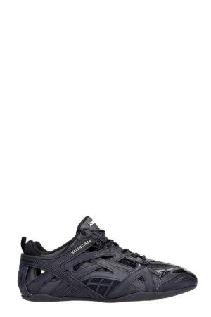 Balenciaga Drive Sneakers In Black Leather