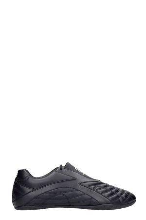 Balenciaga Zen Sneakers In Black Leather