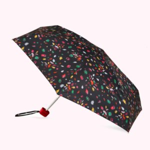 Black Multi Jewelled Lips Tiny Umbrella
