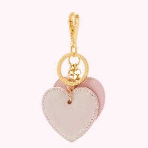 Blossom Heart Leather Keyring