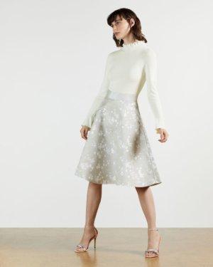 Blossom Jacquard Midi Dress