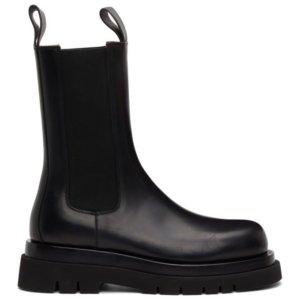 Bottega Veneta Black BV Lug Chelsea Boots