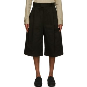 Bottega Veneta Black Cotton Heavy Shorts