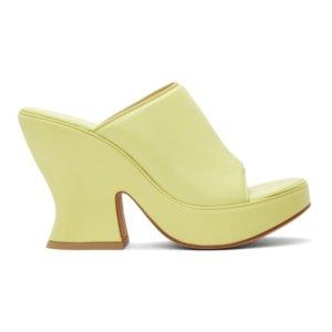 Bottega Veneta Green Wedge Heeled Sandals
