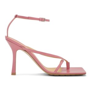 Bottega Veneta Pink Stretch Sandals