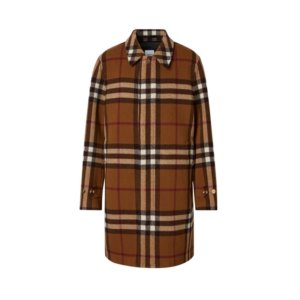 Burberry Double-faced Check Wool Car Coat