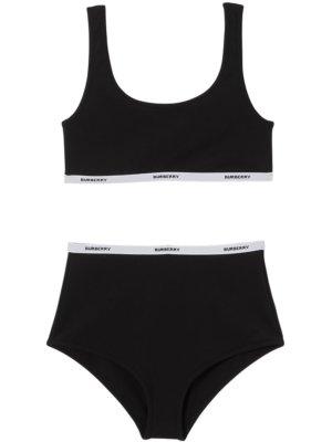 Burberry logo tape bikini - Black