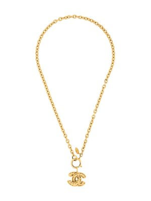 Chanel Pre-Owned 1980s quilted pendant necklace - Gold