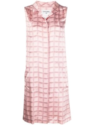 Chanel Pre-Owned 1990s tie-dye check-effect print dress - Pink