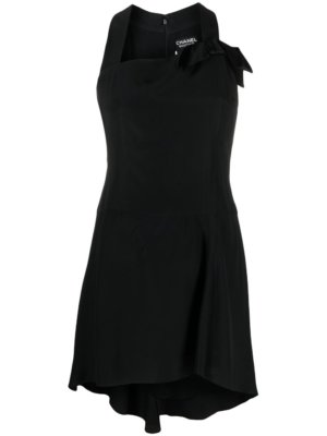 Chanel Pre-Owned 1994 bow detail flared dress - Black