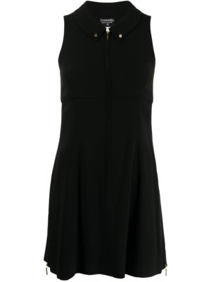 Chanel Pre-Owned 1995 zipped A-line dress - Black
