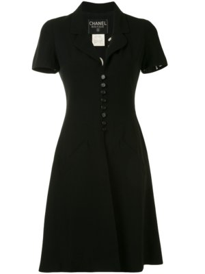 Chanel Pre-Owned 1997 button-up dress - Black