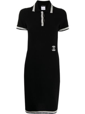 Chanel Pre-Owned 2004 short polo-dress - Black
