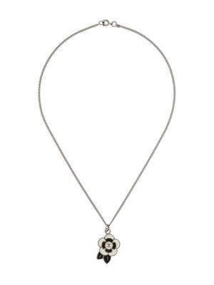 Chanel Pre-Owned 2005 CC floral pendant necklace - Silver