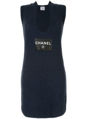 Chanel Pre-Owned 2008 CC Logos Sleeveless Dress One Piece - Black