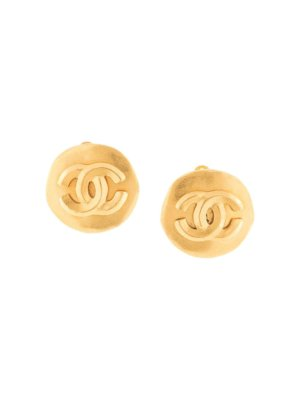 Chanel Pre-Owned CC logos earrings - Gold