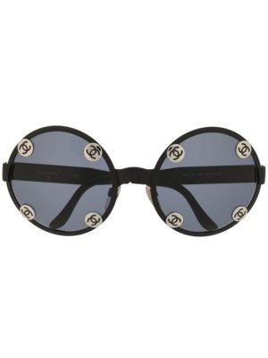 Chanel Pre-Owned CC plaque sunglasses - Black