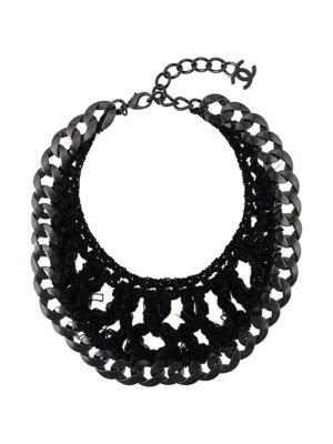 Chanel Pre-Owned chain link necklace - Black
