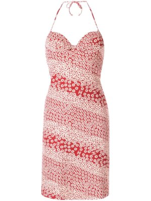 Chanel Pre-Owned floral swimsuit dress - Red