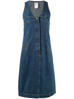 Chanel Pre-Owned midi denim dress - Blue