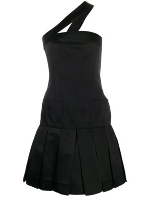 Chanel Pre-Owned single strap pleated dress - Black