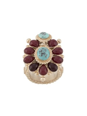 Chanel Pre-Owned stone embellished ring - Red