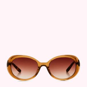 Chocolate Tortoise Shell Round Sunglasses
