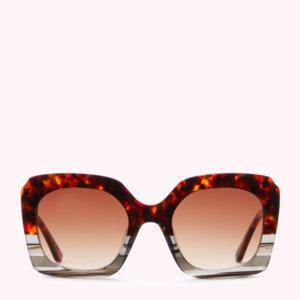 Chocolate Tortoise Shell Square Sunglasses