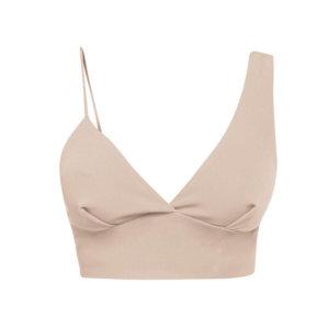 Cliché Reborn - Asymmetric Bra Top In Blush Pink