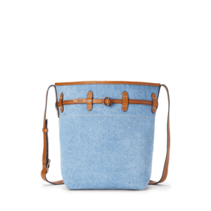 Denim Large Bellport Bucket Bag