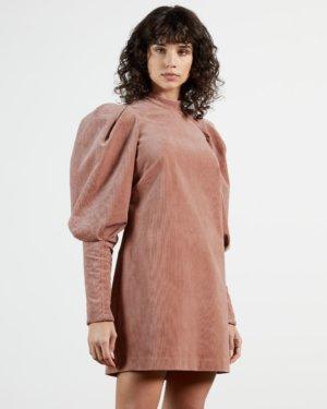 Exaggerated Sleeve Mini Dress