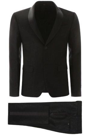 FENDI FF LOGO TUXEDO 48 Black Wool