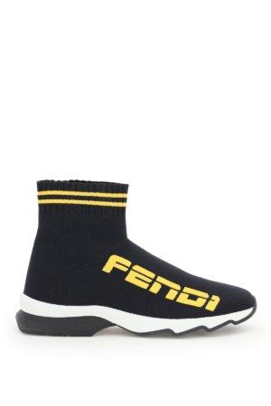 FENDI ROCOCO SNEAKERS 36 Black, Yellow