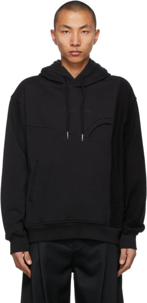 Feng Chen Wang Black French Terry Hoodie