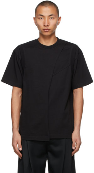 Feng Chen Wang Black Layered 2-In-1 T-Shirt