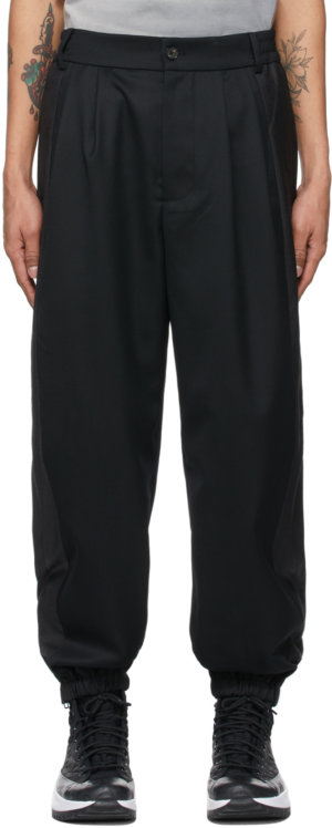Feng Chen Wang Black Wool Paneled Trousers