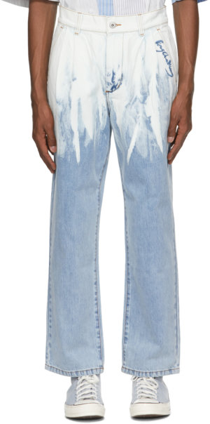 Feng Chen Wang Blue Washed Jeans